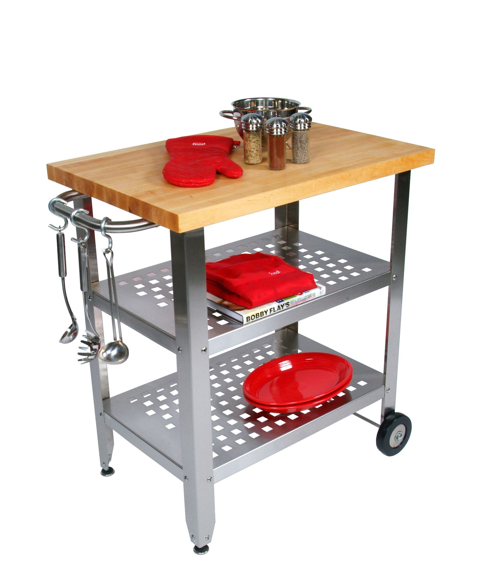 John Boos Cucina Americana Avanti Kitchen Cart with Wood Top ...