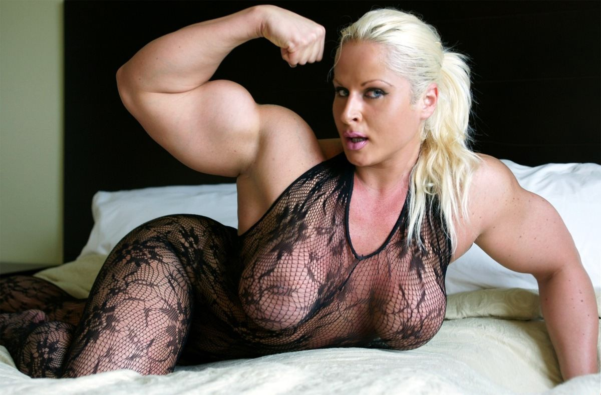 Female Bicep Flex  Incredible Massive Thick Muscular And -8186