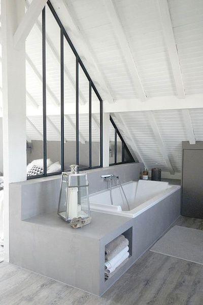 Les combles deviennent une belle suite parentale avec salle de bains