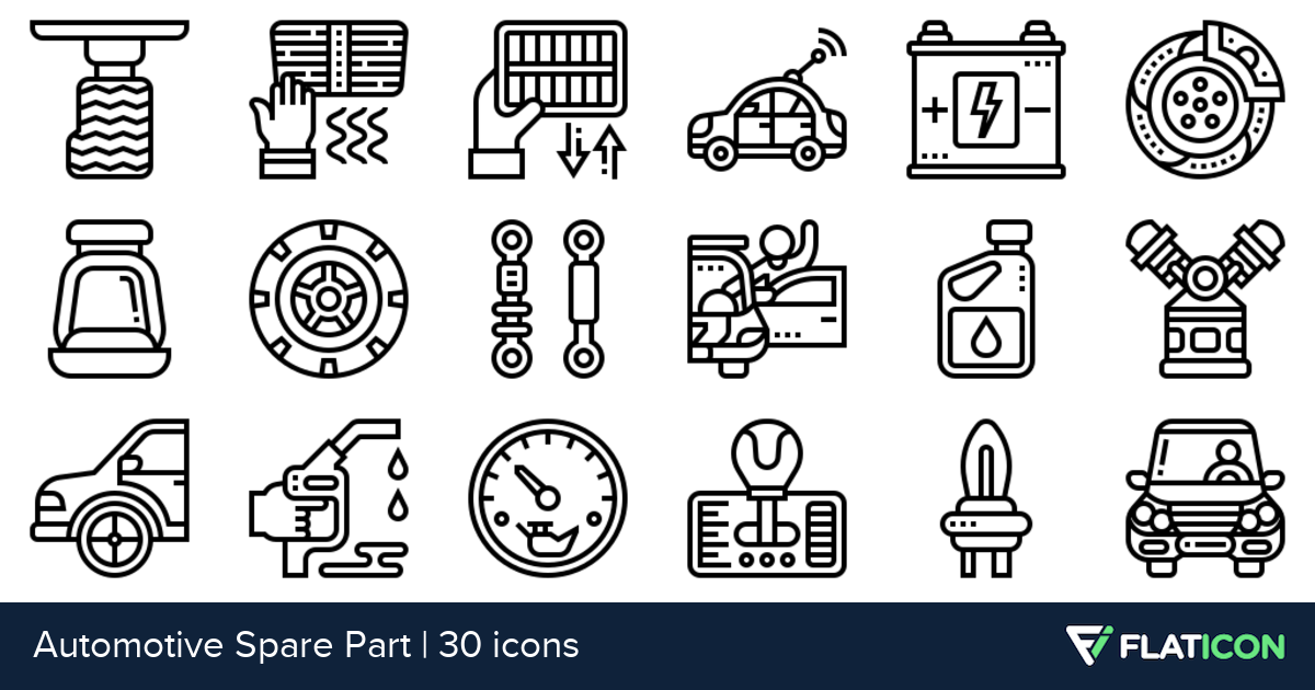 30 free vector icons of Automotive Spare Part designed by