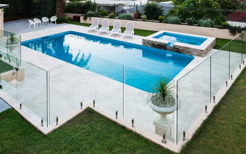 How To Build The Cheapest Inground Pool Possible Pool Pricer Pool Patio Designs Cheap Inground Pool Glass Pool Fencing
