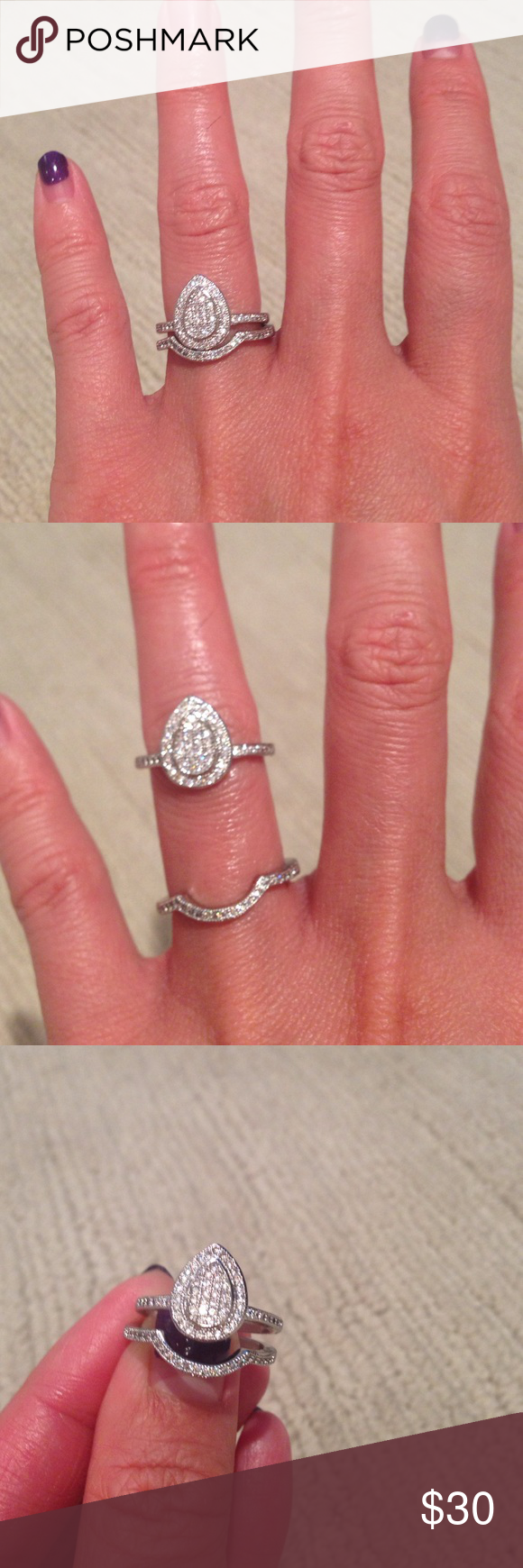 SOLD!!Vintage looking 2 beautiful CZ diamond rings NWT | Beautiful ...