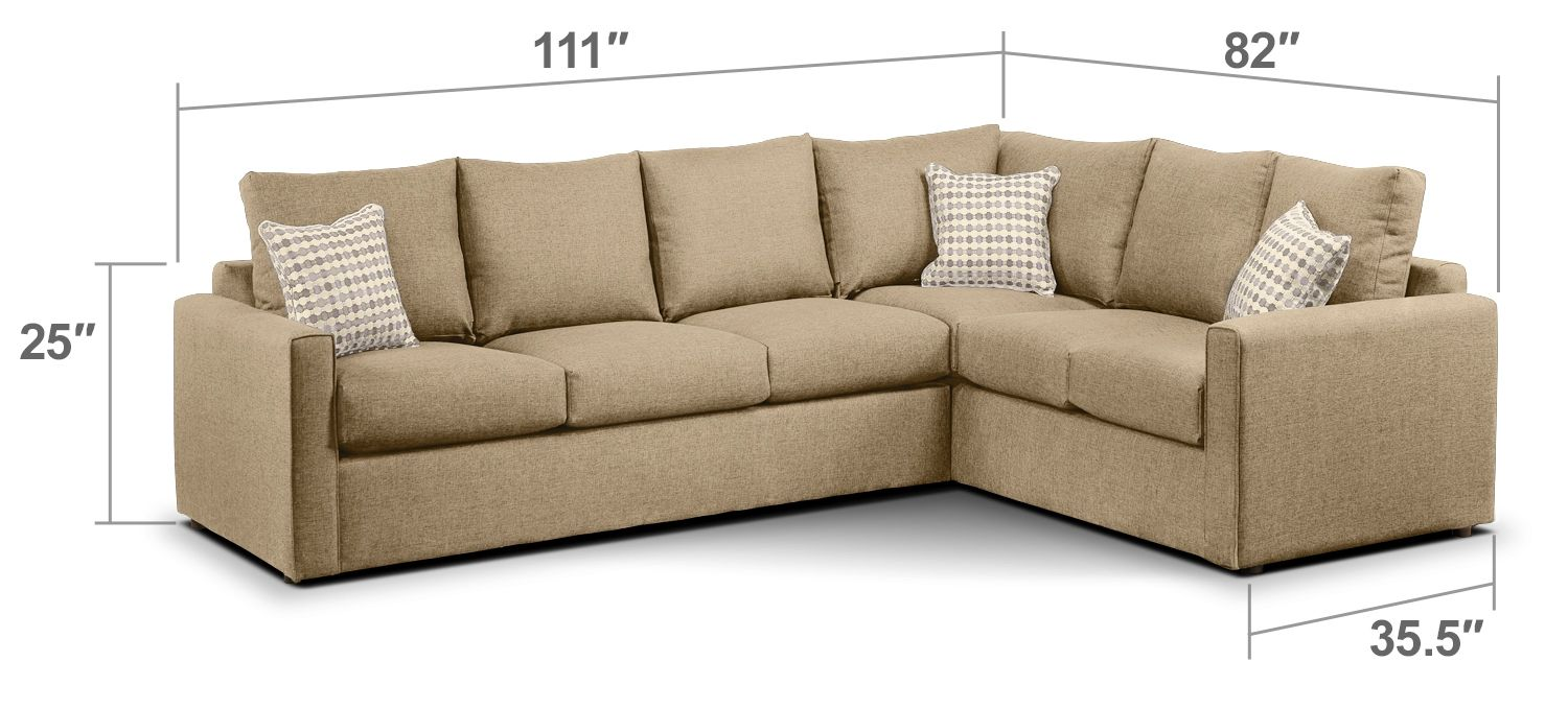Superb Athina 2 Piece Left Facing Queen Sofa Bed Sectional Ibusinesslaw Wood Chair Design Ideas Ibusinesslaworg