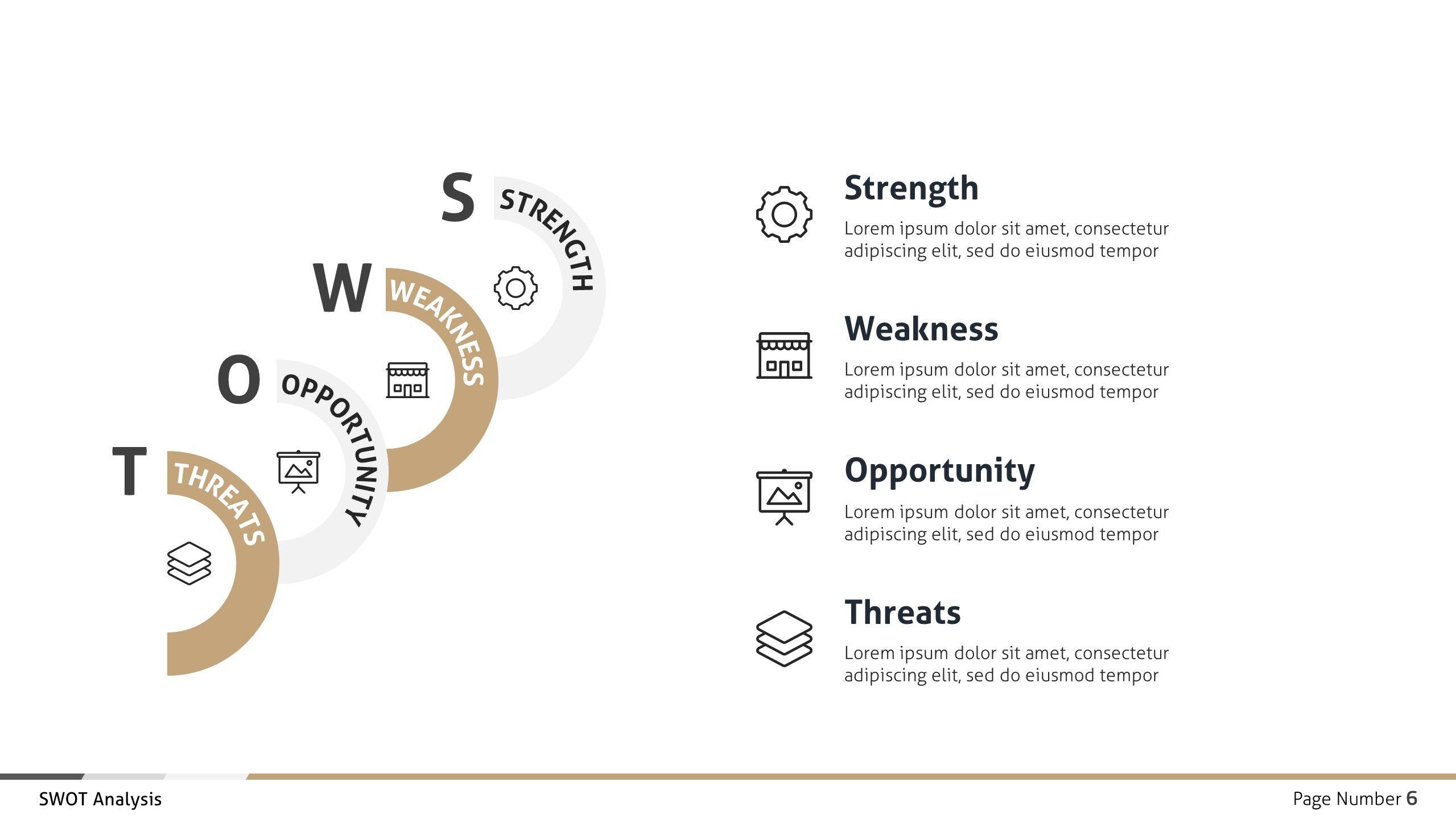 Swot Analysis Business Infographic Presentation