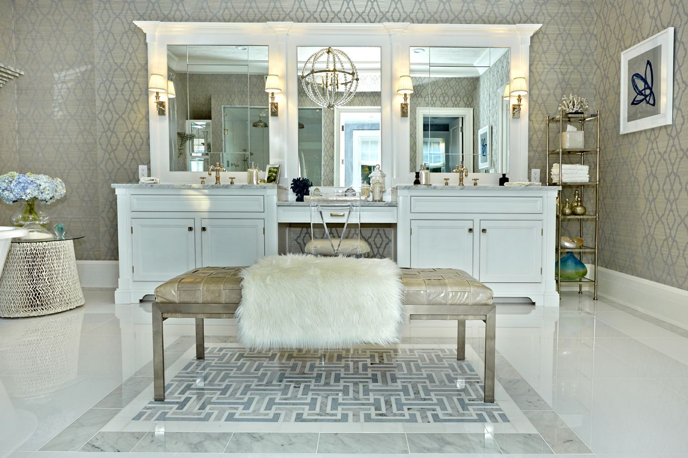 2013 hamptons designer showhouse master bathroom for Interior design bergen county nj