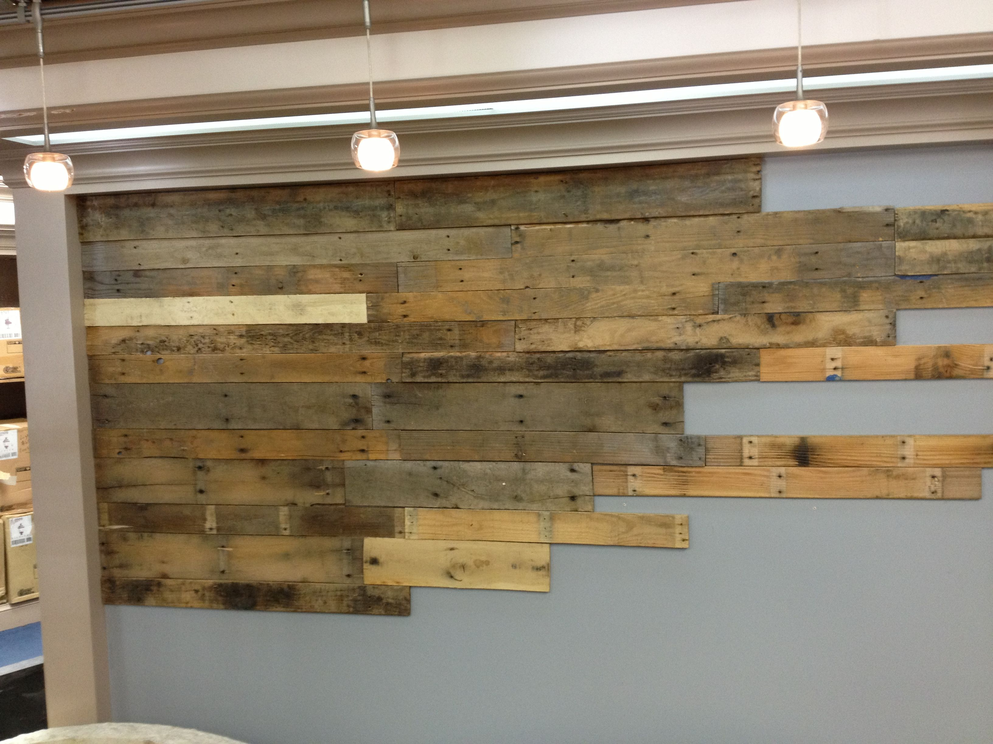 Wooden Wall Covering Pallet Wood Wall With Planks Run Through A Planer Prior To .