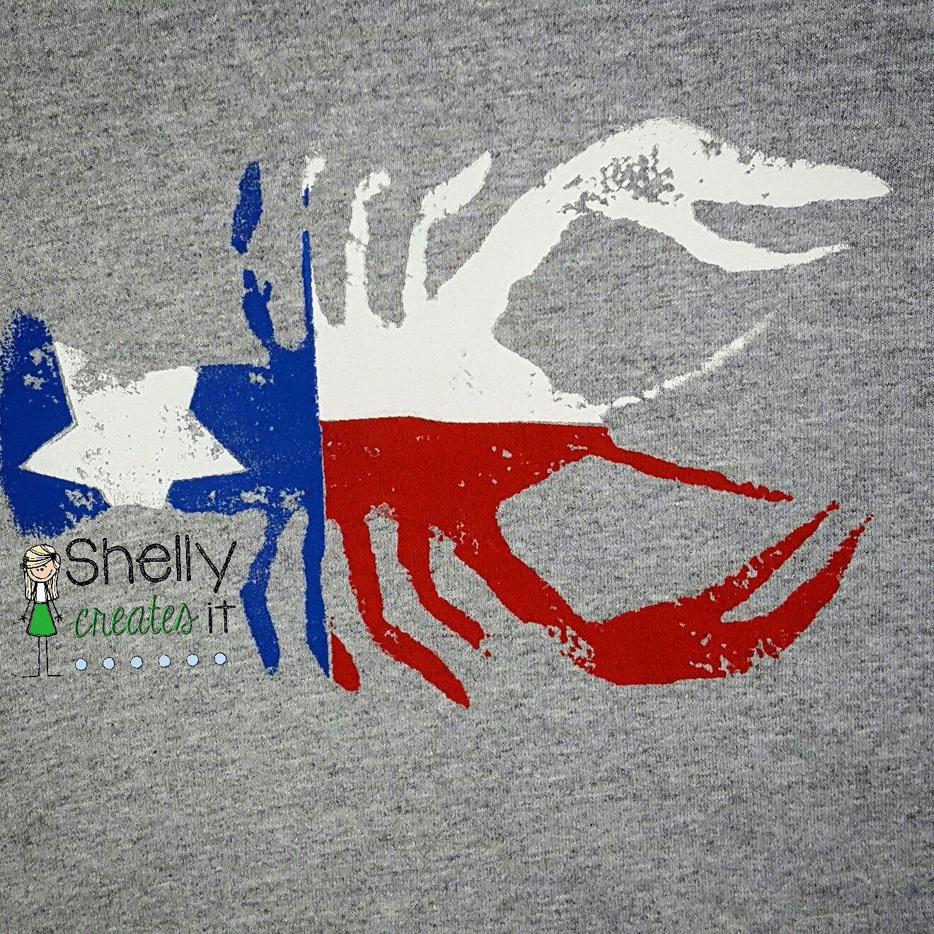 Texas Craw-fish Tee: Distressed Screen Print | Shelly ...