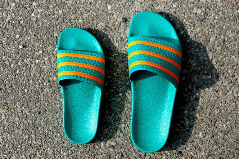 adidas Adilette duo | Adidas adilette, Adidas slides, Strap ...