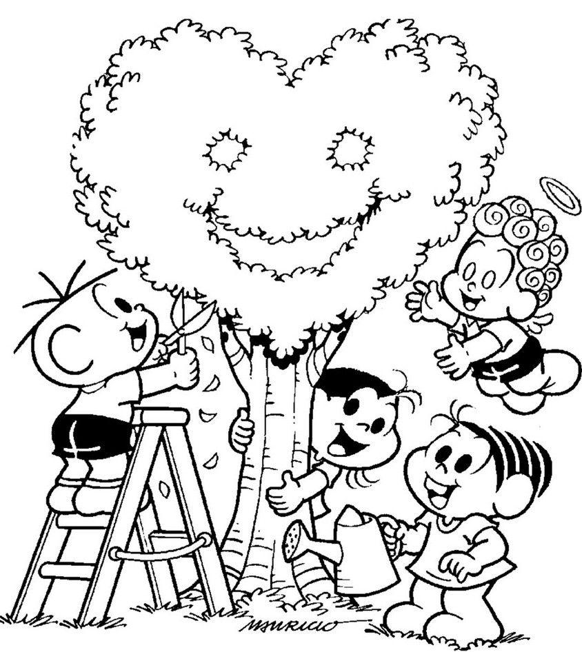 Desenho De Paisagem Para Colorir Com Imagens Dia Da Arvore