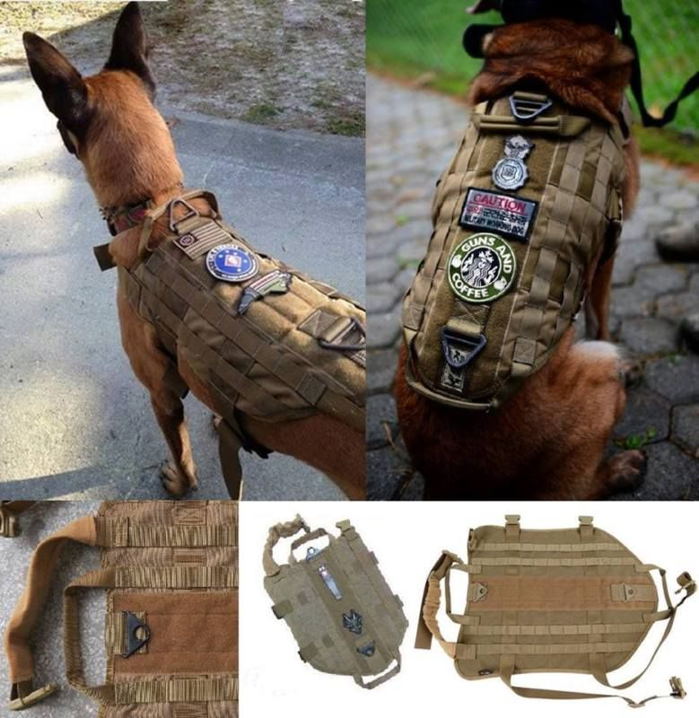 Tactical Police K9 Dog Vest Harness Molle Usa Milspec Canine