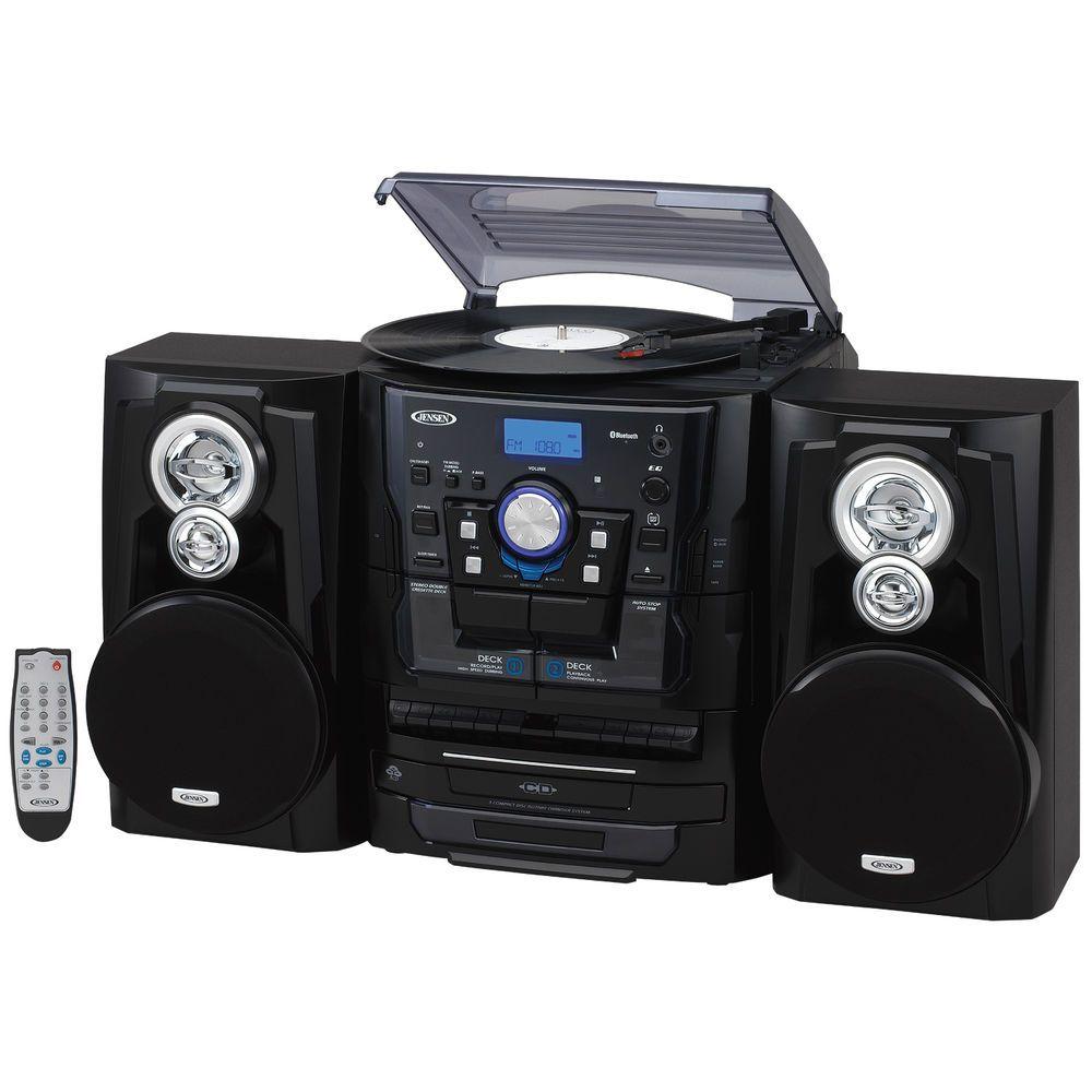 JEN JMC 1250 Bluetooth 3.0 Belt Drive 3 Speed Stereo Turntable 3 CD