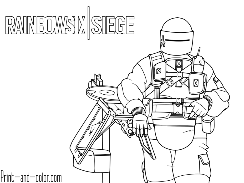 Rainbow Six Siege Coloring Pages Coloring Pages Rainbow Free