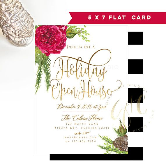 Holiday Open House Christmas Party invitation Open House Gibb + Co