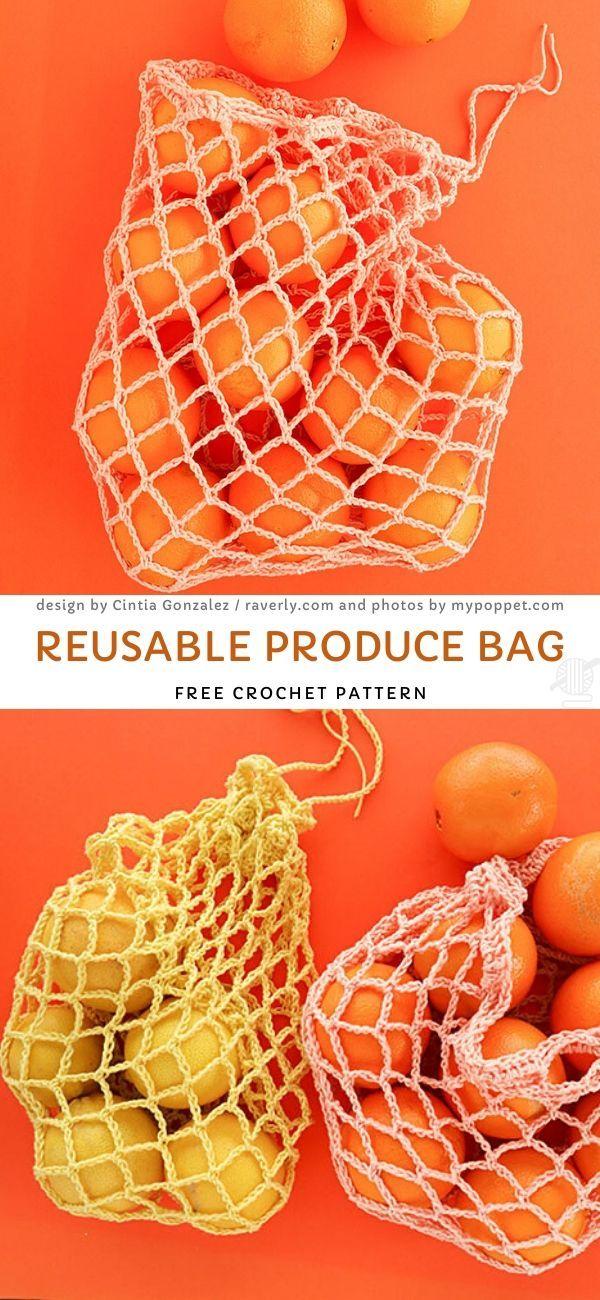 Reusable Produce BagFree Crochet Pattern