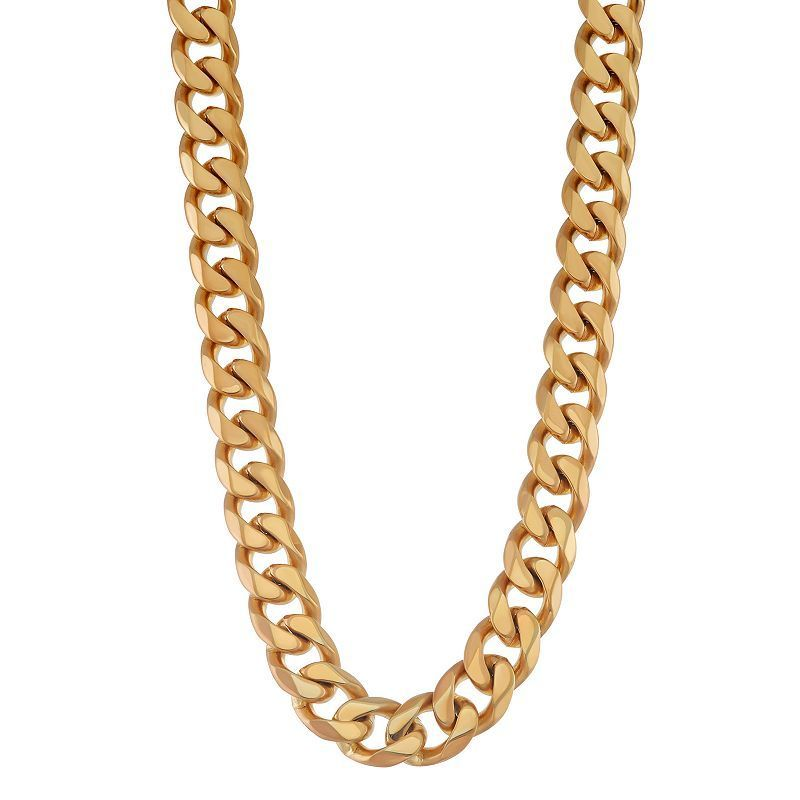 l medallion chain cuban greek chains curb men gold necklace mens medusa pendant ebay jewelry patern