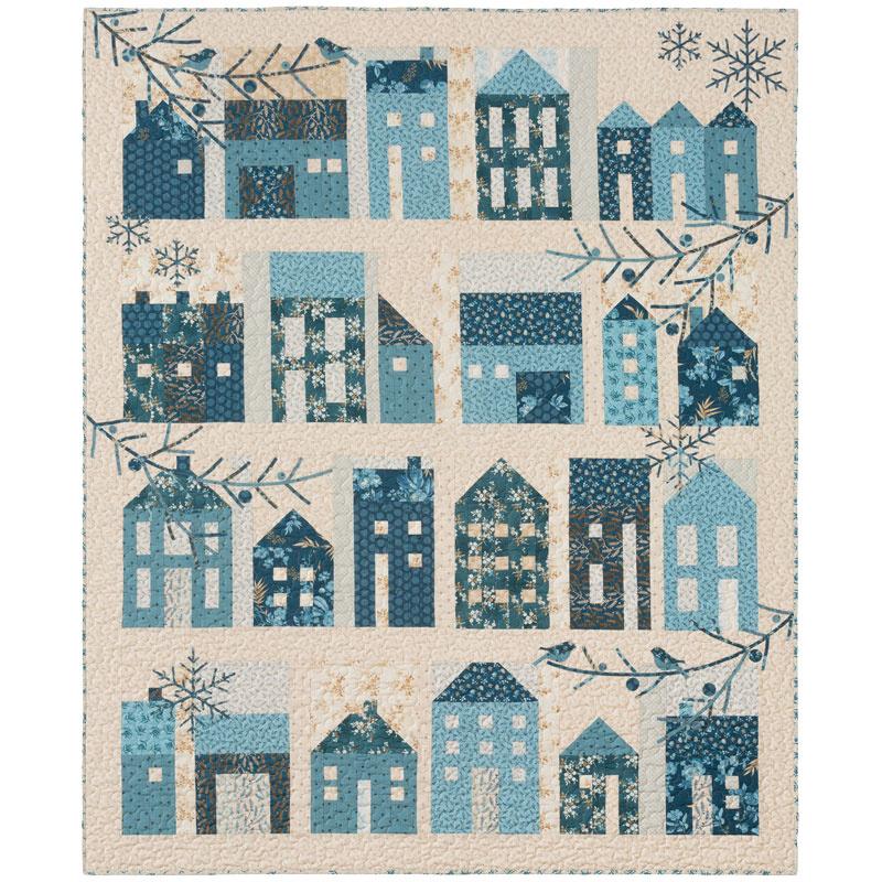 Winter Village Block Of The Month Edyta Sitar Of Laundry Basket