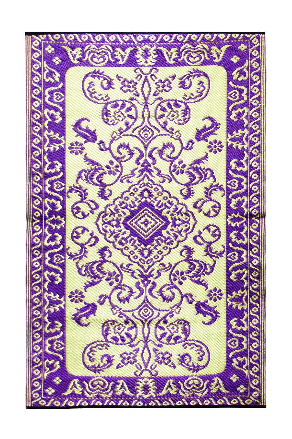 Tracery Violet 4X6 Indoor/outdoor floor mat Area rugs