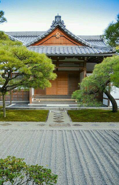 Temple Architecture Japonaise Japon Paysage Jardin Japonais
