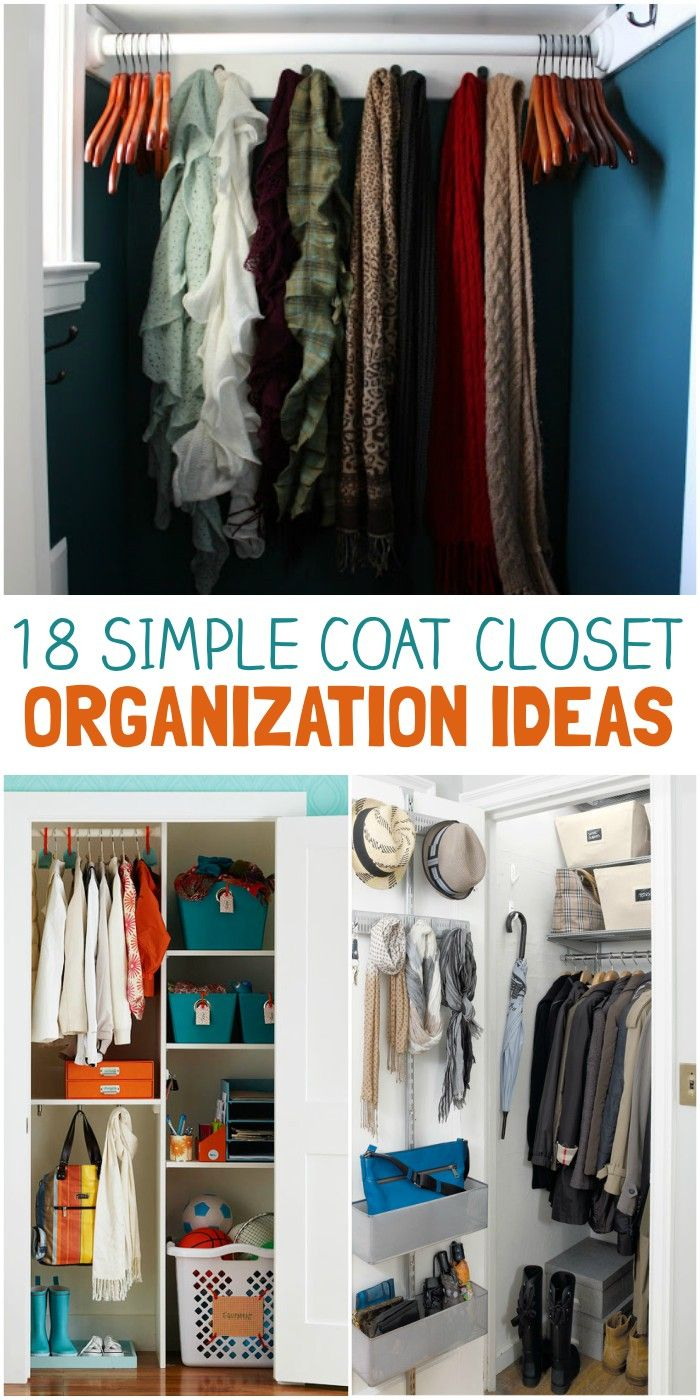 18 Simple Coat Closet Organization Ideas