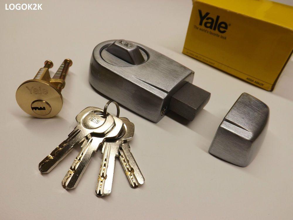 Yale front door lock deadbolt nightlatch rim cylinder for Door yale lock