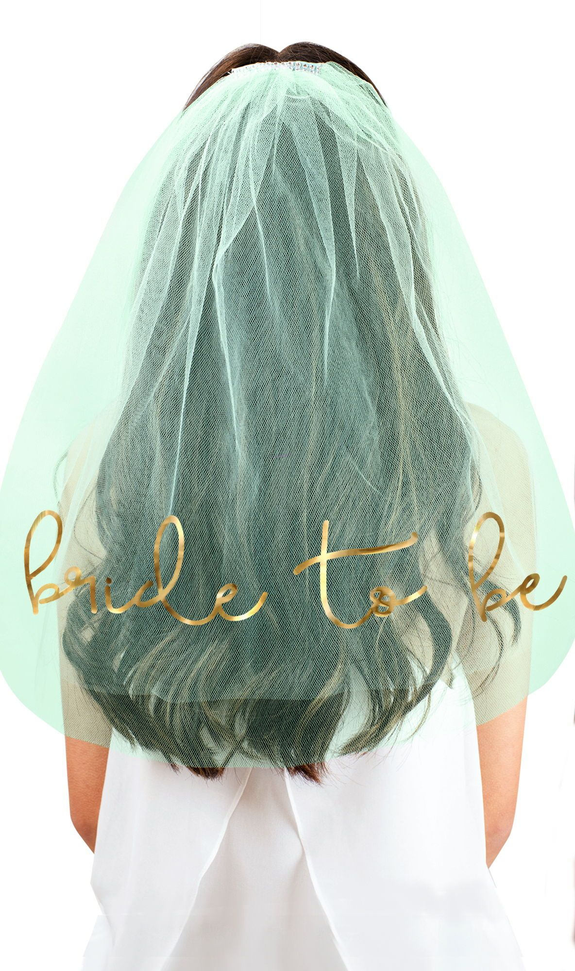 Bachelorette Party Veil for Bride to Be Bridal Shower Veil for Fun Wedding Accessory Gold Foil