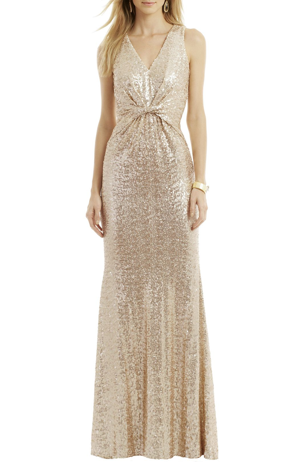 Twist It Out Gown by Badgley Mischka for   Rent The Runway