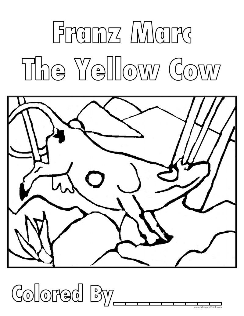 Franz Marc The Yellow Cow Kunstprojekt Fur Kinder Kunst