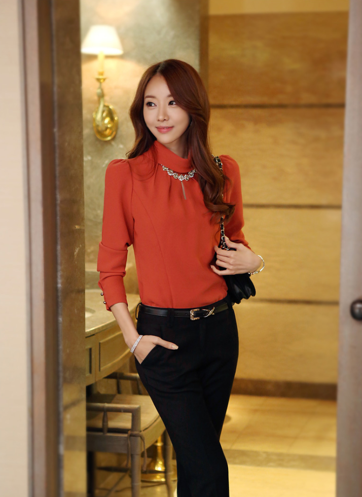 c59f7e9b7 Moda coreana  25 modelos de blusas para chicas – Parte 2