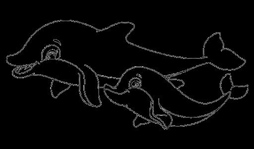 Aneka Mewarnai Gambar Hewan Ikan Lumba Lumba Dan Anaknya Coloring