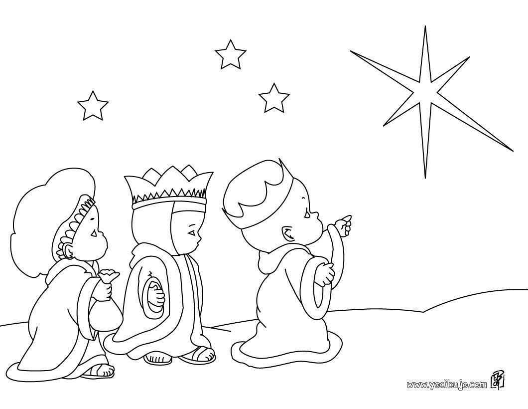 Los Tres Reyes Magos Para Colorear Paginas Para Colorear De Navidad Tres Reyes Magos Dibujo Navidad Para Colorear