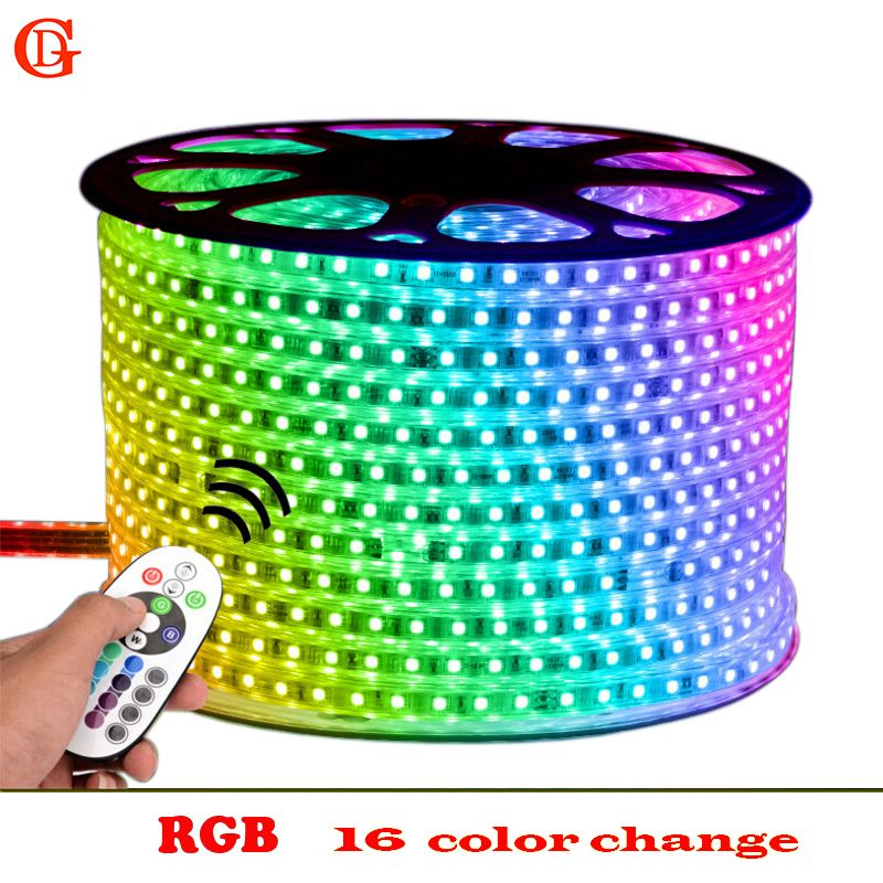 5m 6m 7m 8m 9m 10m 13m Rgb Led Strip 5050 Waterproof Led Verlichting Neon Light And 220v Striscia Ilumi Led Strip Lighting Strip Lighting Waterproof Led Lights