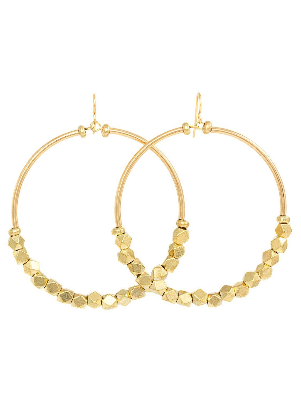 d91c53c71 Stevie Gold Hoop Earrings - Large Nuggets - Earrings   Vanessa Mooney  Jewelry