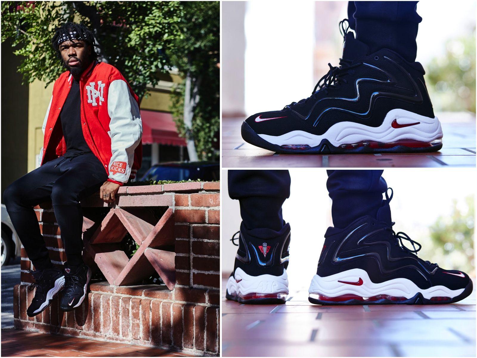 ON FOOT LOOK NIKE AIR PIPPEN 1 BLACKRED | Nike, Nike air
