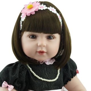 b9d0e7726 Vi Bonecas   Acessórios  Linda Boneca Bebê Reborn 55cm Silicone Sob Encomen.