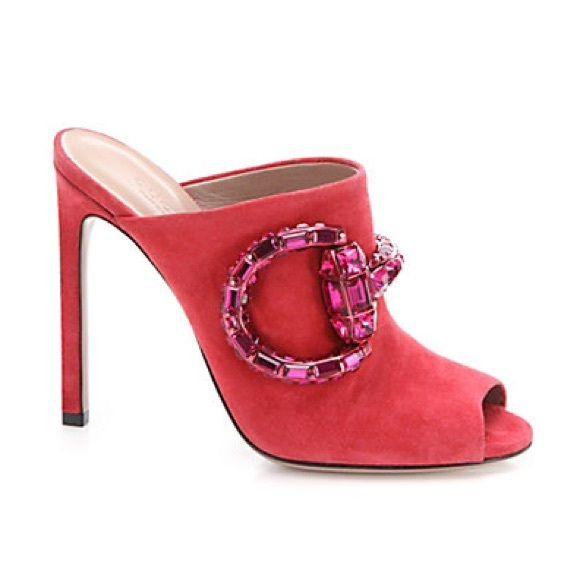 30164e5175c Gucci sandals Maxime crystal horsebit suede sandals