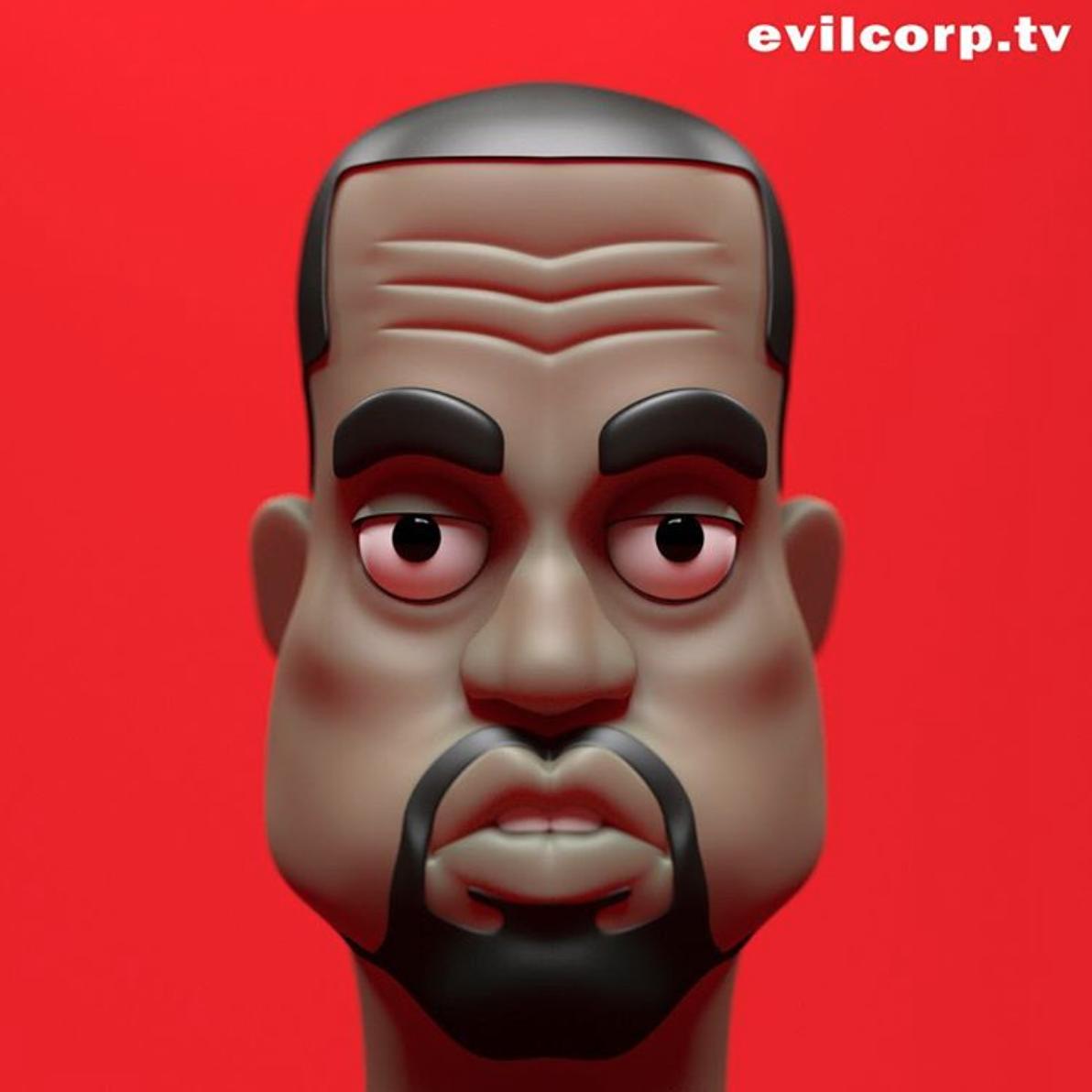 Kanye West By Kibooki Shadow Art Art Toy Art