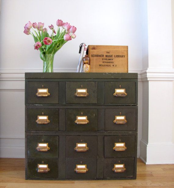 Http://www.etsy.com/listing/74551272/industrial . Metal File CabinetsFiling  ...