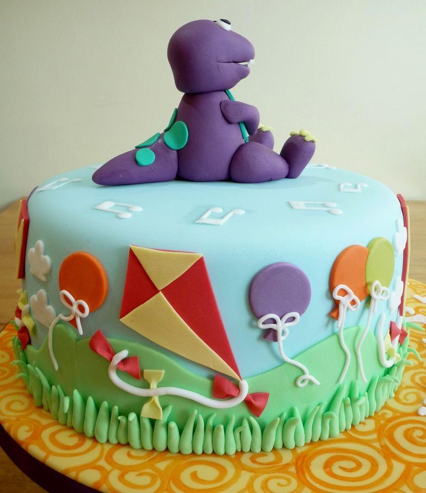 Barney The Friendly Dinosaur Birthday Cake cakepinscom Recipes