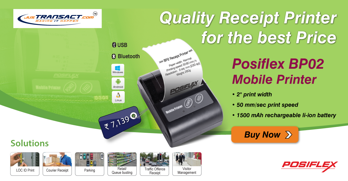 Posiflex BP02 Mobile Printer in 2019 | point of sale updates
