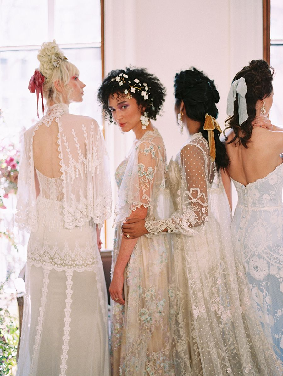 Claire Pettibone S Timeless Collection Romantic Vintage Wedding Dresses You Ll Adore Vintage Wedding Romantic Bridal Fashion Week Bridal Style
