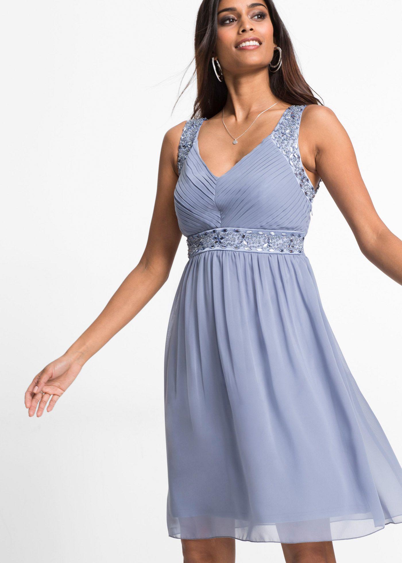 10b01ab22540 Abendkleid mattblau jetzt im Online Shop von bonprix.de ab € 39,99 ...