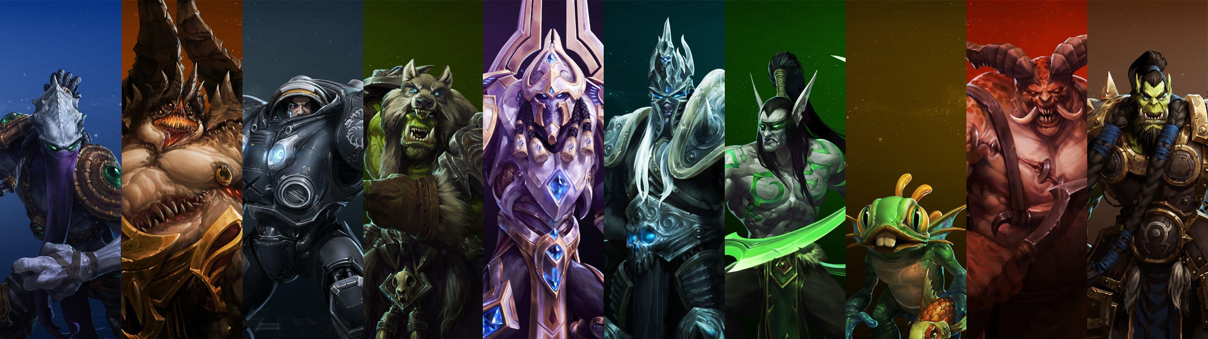 Heroes of the storm wallpaper dual screen warcraft - Heroes of the storm phone wallpaper ...