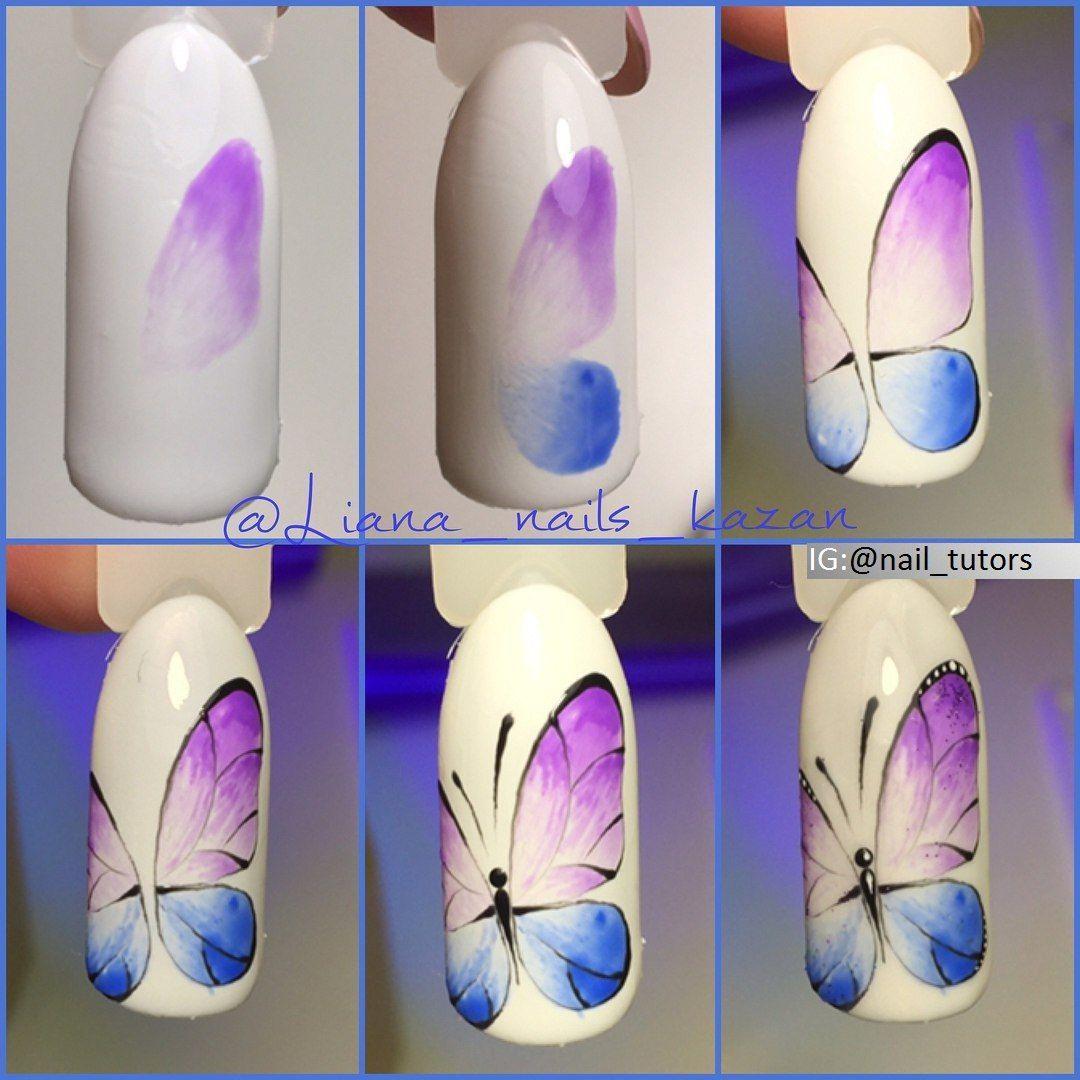 Pin By Joanna Golinska On Motyle Paznokcie Wzory Do Malowania