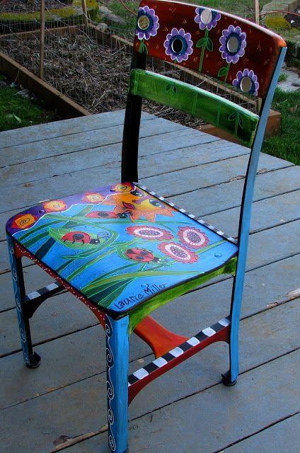 pin von konni p auf upcycling pinterest bemalte m bel m bel und bemalte st hle. Black Bedroom Furniture Sets. Home Design Ideas