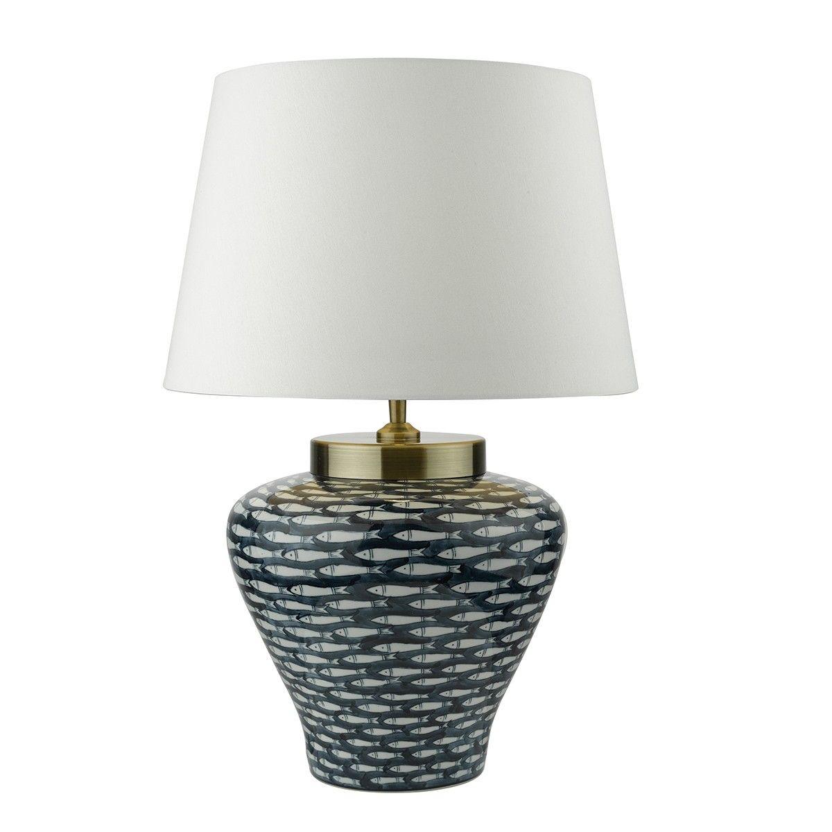 Porcelain Table Lamp Base Hand Finished