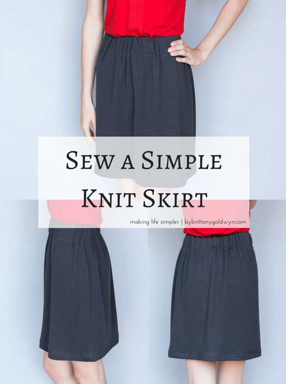 Make A Simple Knit Skirt Free Sewing Patterns For Women