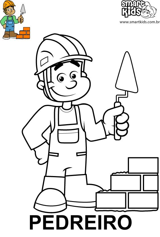 Colorir Desenho Pedreiro Art Drawings For Kids Coloring Books