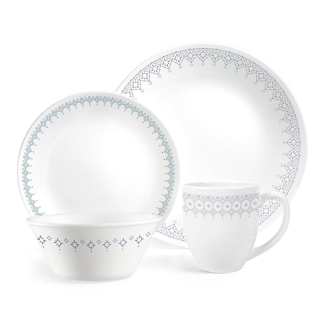 Corelle Boutique Evening Lattice 16 Piece Dinnerware Set With