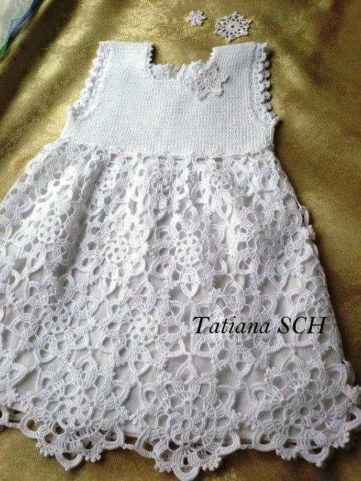 Vestido | Crochet | Pinterest | Croché, Vestidos para niñas and ...