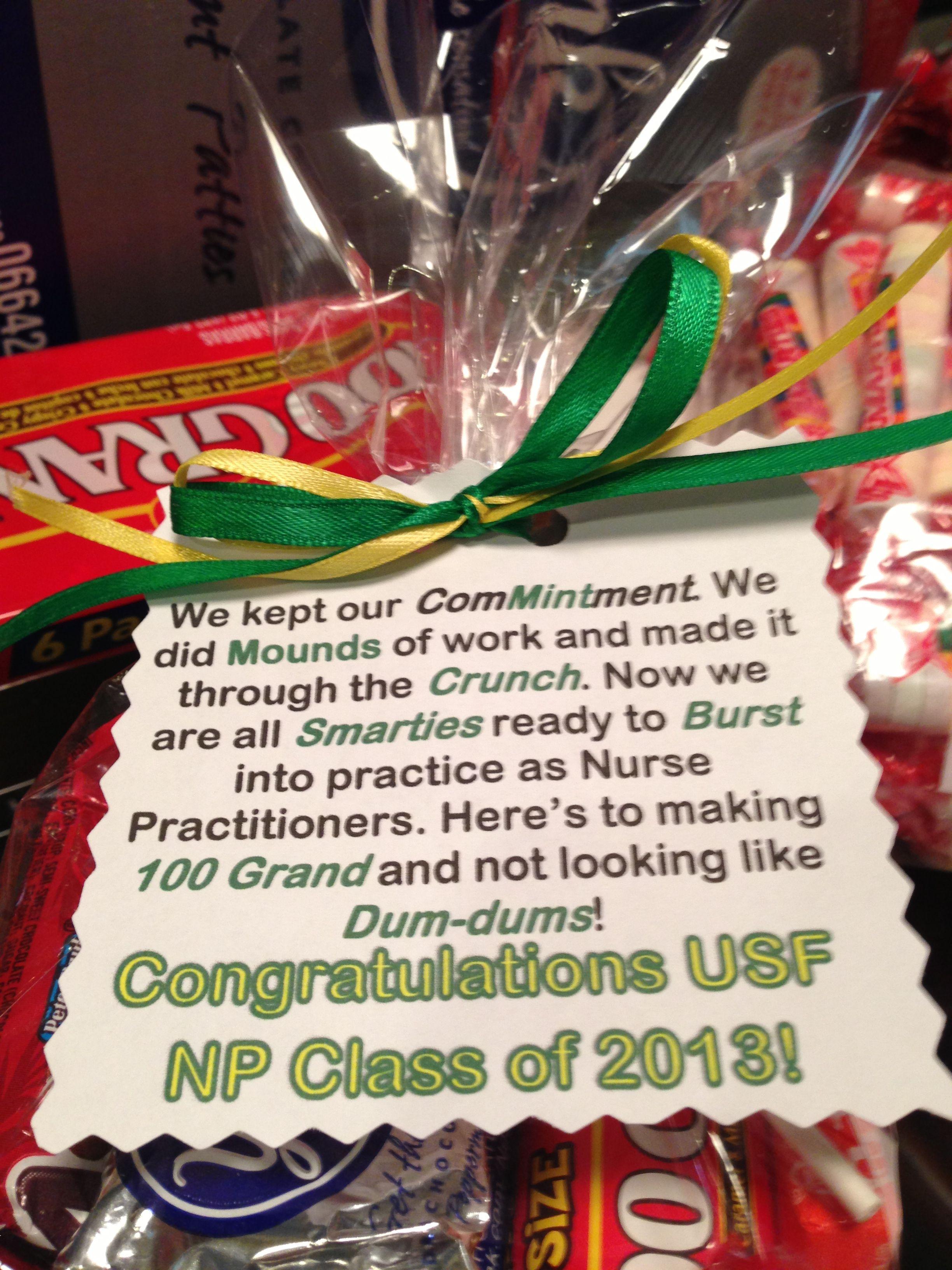 Fun goodie bags i made for my np graduating class helper